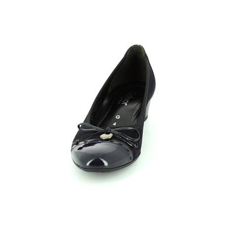Gabor Islay 62.203.26 Navy patent/suede heeled shoes