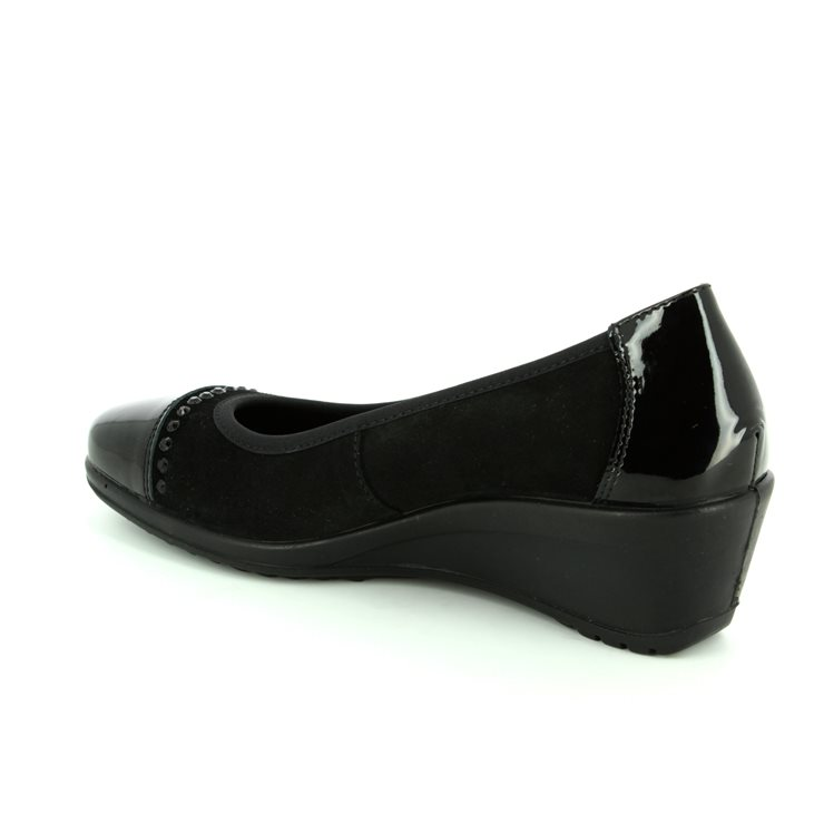 IMAC 62081-7150011 Black patent/suede heeled shoes