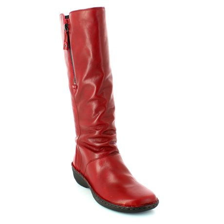 Relaxshoe 291004-80 Red long boots