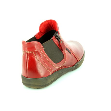 Relaxshoe 021503-80 Red ankle boots