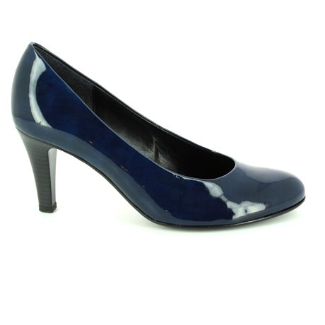 Gabor Lavender Opera 55.210.78 Navy patent heeled shoes