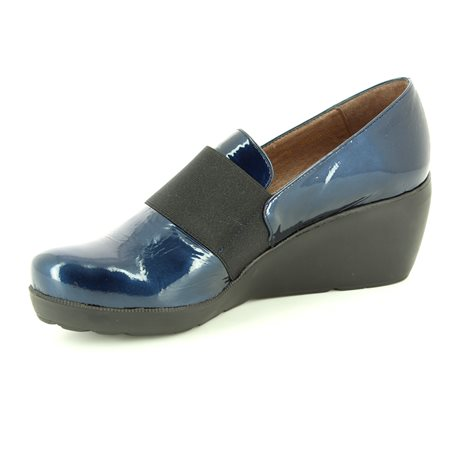 Wonders H2083-70 Navy patent shoe-boots
