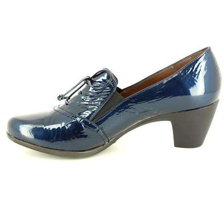 Wonders G3612-70 Navy patent shoe-boots