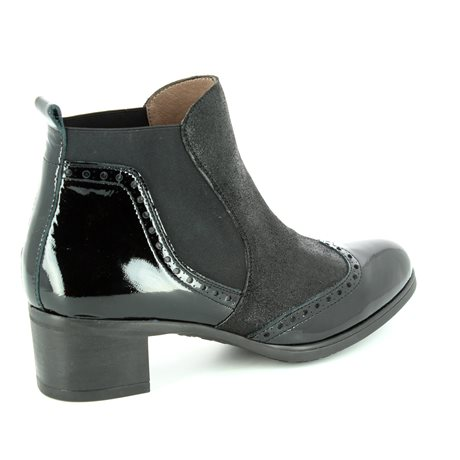 Wonders G4082-30 Black ankle boots