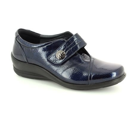 Padders Simone E-ee 200-23 Navy patent comfort shoes