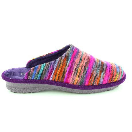 Rohde 2265-59 Purple multi slippers