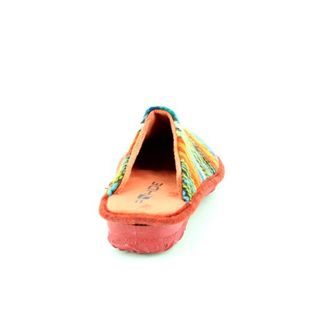 Rohde 2265-78 Red multi slippers