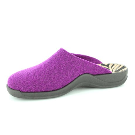 Rohde 2309-57 Purple slipper mules