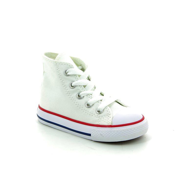 0b1ca1fae6c2 Converse Trainers - White - 7J253C 102 Infants Chuck Taylor All Star  Classic HI Tops ...