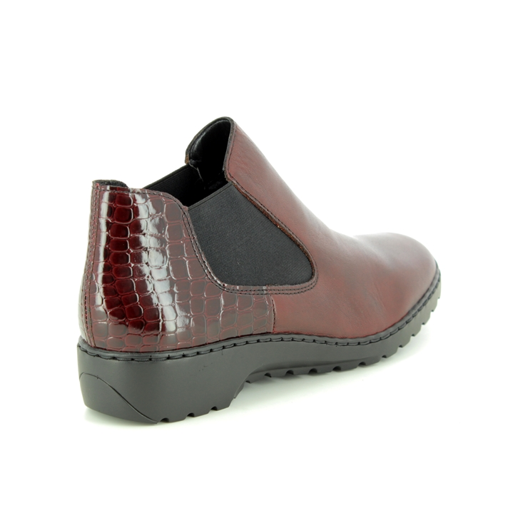Rieker L6090-35 Wine ankle boots