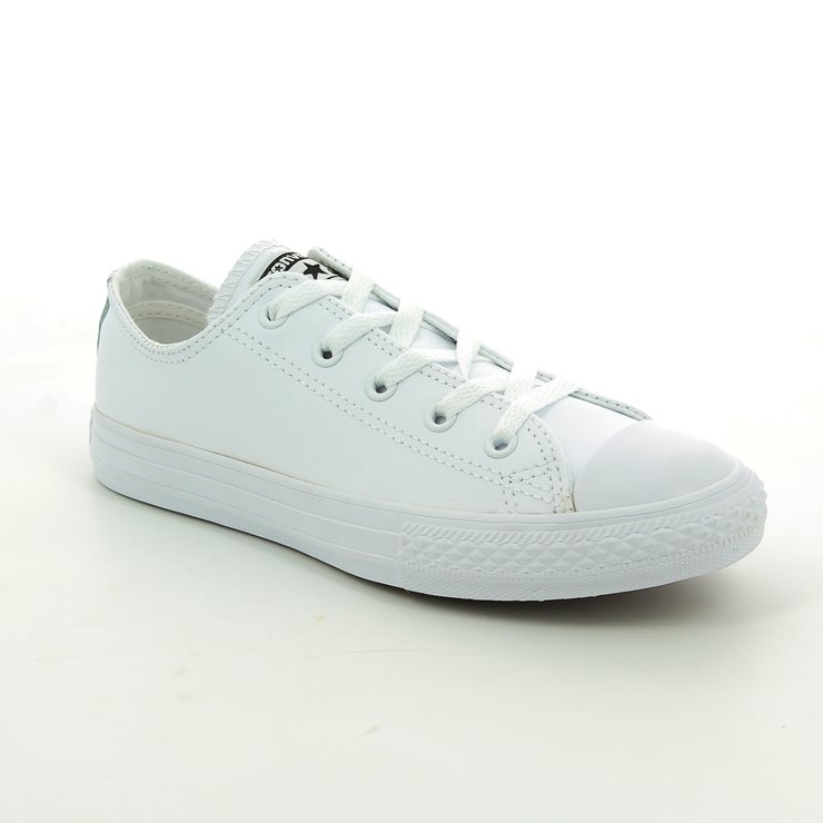 2facd6c38daa Converse Trainers - White - 335891C Chuck Taylor All Star OX Mono Leather  ...