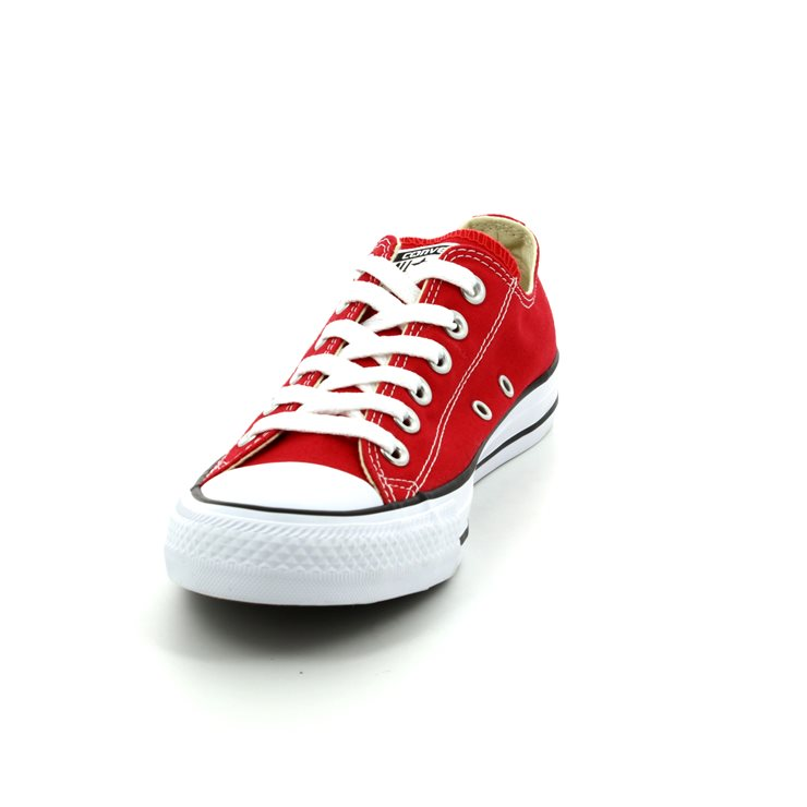 Converse Ox Red Canvas All Star Sneakers M9696C - Famous