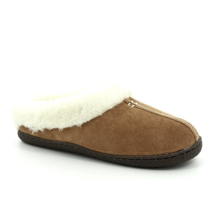 c845392f Clarks Slippers - Tan suede - 3043/04D HOME CLASSIC ...