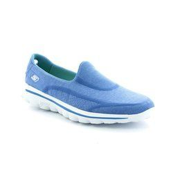 Skechers Trainers & Canvas - Blue - 13955/57 SUPER SOCK GO 13955