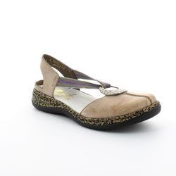 Rieker Everyday Shoes - Light taupe - 46362-64 DAISELA