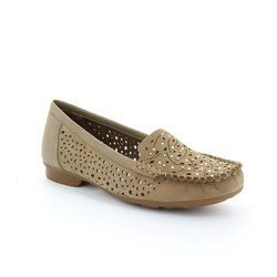 Rieker Loafer / Mocassin - Taupe nubuck - 40097-60 MOZDIA