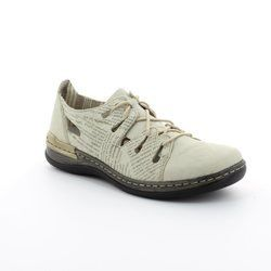 Rieker Everyday Shoes - Beige multi - 54007-60 DAISNEWS