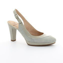 Wonders Heeled Shoes - Beige multi - M1021/50 SWING