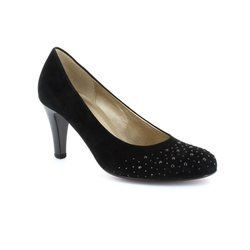 Gabor Heeled Shoes - Black suede - 25.212.17 OPEREVE