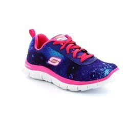 Skechers Girls Trainers & Canvas - Blue - 81884/47 COLOR CLASH 81884