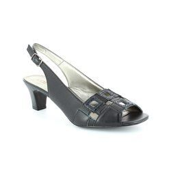 Lotus Heeled Shoes - Navy - 5050/37 ZABRY