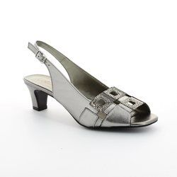 Lotus Heeled Shoes - Pewter - 5050/35 ZABRY