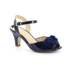 Ambition Heeled Shoes - Navy patent multi - 3936/67 JONI
