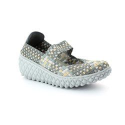 Adesso Trainers & Canvas - Silver multi - A2831/00 NANCY
