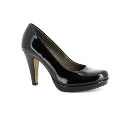 Tamaris Heeled Shoes - Black patent - 22426/018 CARRADI