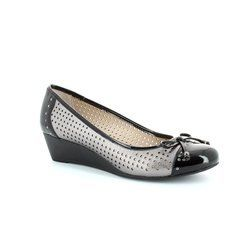 Lotus Heeled Shoes - Black/pewter - 5019/76 ELIZABETH