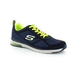 Skechers Trainers & Canvas - Navy leather - 51480/07 M SKECHAIR MF 51480