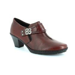 Rieker Heeled Shoes - Wine - 57152-35 ADDIDISC