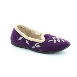Padders Slippers & Mules - Purple - 468/78 CHEER