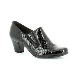 Alpina Heeled Shoes - Black croc - 8Y77/23 PAOLACROC