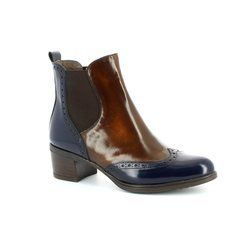 Wonders Boots - Ankle - Navy-Tan - G4052/70 CATHY