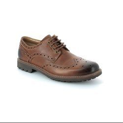 Clarks Shoes - Dark Tan - 5178/67G MONTACUTE WING
