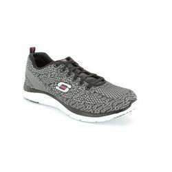 Skechers Trainers & Canvas - Silver-Black - 12135/30 VALERIS KNIT