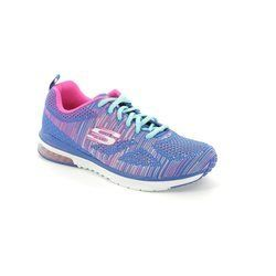 Skechers Trainers & Canvas - Blue-Pink - 12113/72 SKECHAIR KNIT