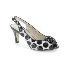 Lotus Heeled Shoes - Black white - 50279/40 FASCINATION