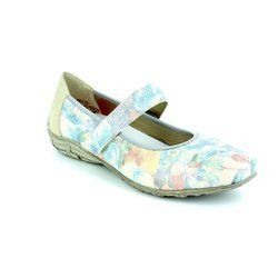Rieker Pumps & Ballerinas - Blue-Floral - L2062-90 RIPPLE
