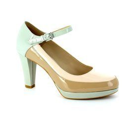 Clarks Heeled Shoes - Beige multi - 1457/24D KENDRA DIME