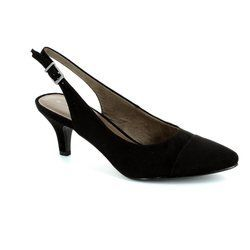 Tamaris Heeled Shoes - Black suede - 29602/007 LEXIA