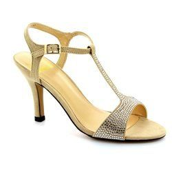 Lotus Heeled Shoes - Beige - 50535/50 FENELLA