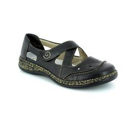 Rieker Everyday Shoes - Black - 46335-00 DAISBACK