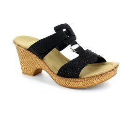 Rieker Sandals - Black - 66082-01 ROBONDI
