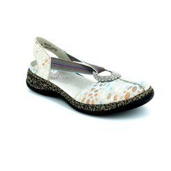 Rieker Everyday Shoes - Off white multi - 46362-80 DAISELA