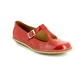 Clarks Everyday Shoes - Red - 1562/74D TUSTIN TALENT