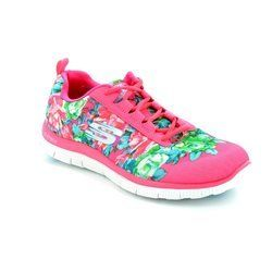Skechers Trainers & Canvas - Pink - 12448/60 WILDFLOWERS MF