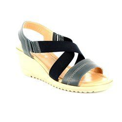 Relaxshoe Sandals - Navy - 044030/70 BEWEDGED