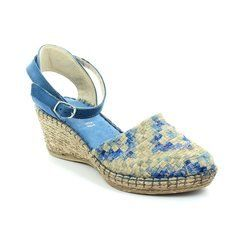 Walk in the City Sandals - Blue multi - 8103/18550 MOSAIC